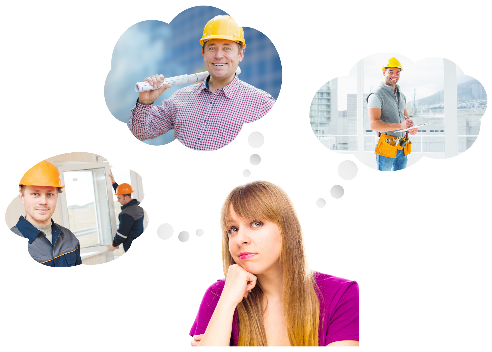 Woman thinking to hire a window supplier
