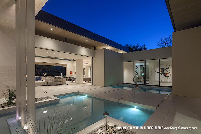 Showcasing house with pool