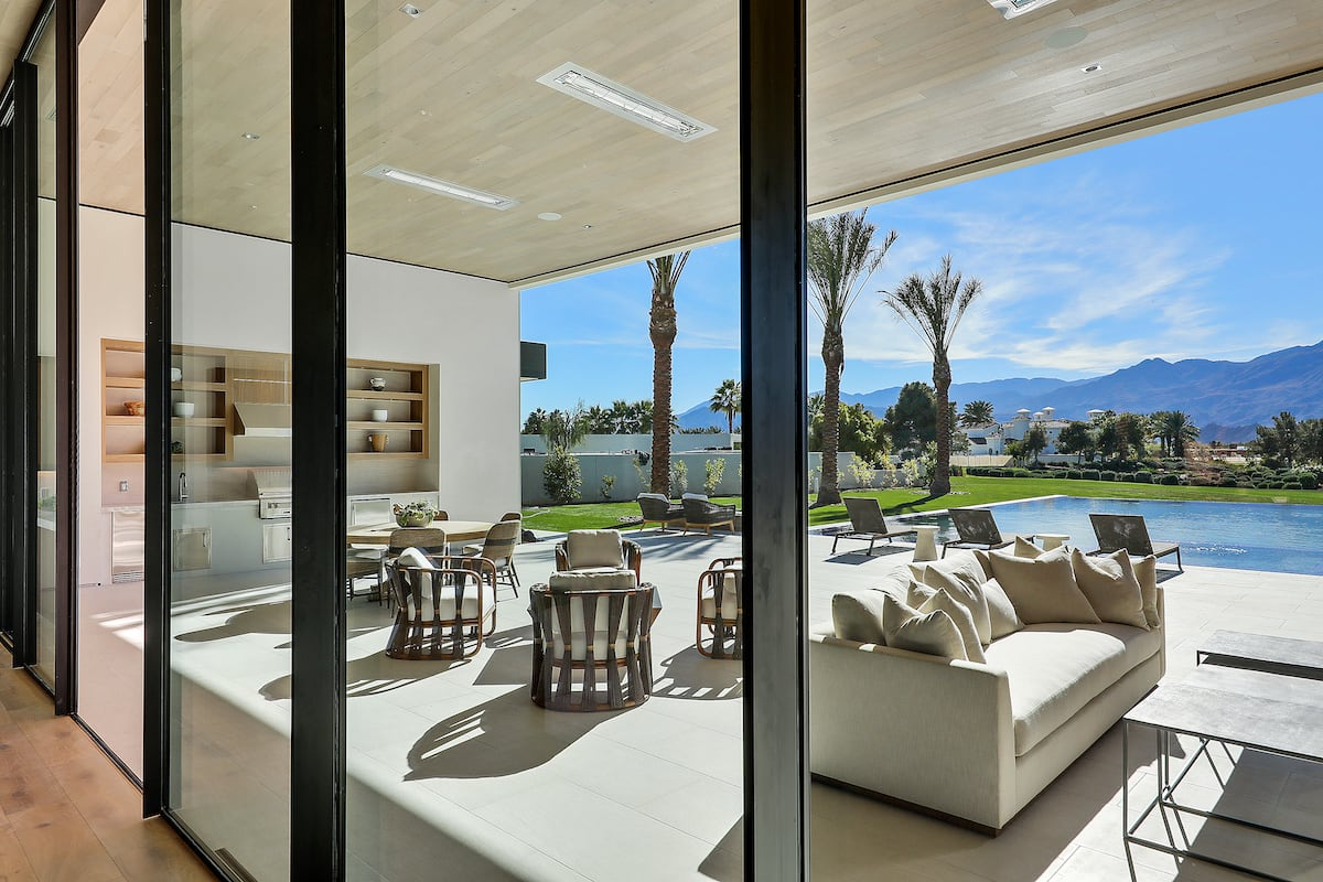 Madison Club door showcase with mountain view